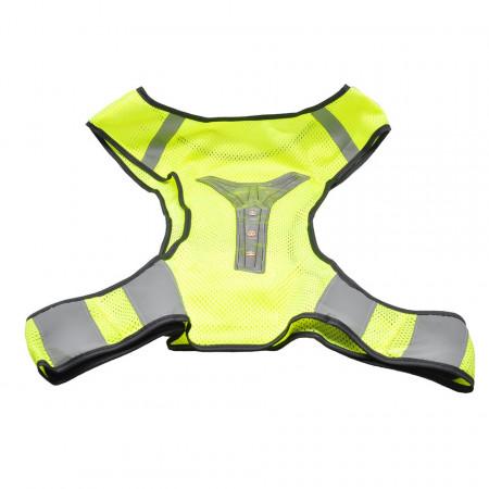 Vesta ciclism reflectorizanta cu avertizare luminoasa cu 3 LED-uri