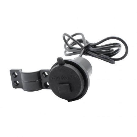 Mini alimentator 12V-5V cu priza USB 1,5A si buton on-off pt. motociclete/ATV/scutere