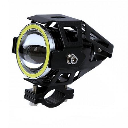 Proiector moto LED cu Angel Eye, 10W, tip U7