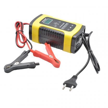 Redresor smart pentru baterii auto/moto, 12V 4A, cu microprocesor si afisaj electronic