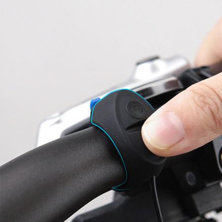Claxon electric pentru bicicleta 120 dB, 3 tonalitati, buton remote pe ghidon, reincarcabil USB