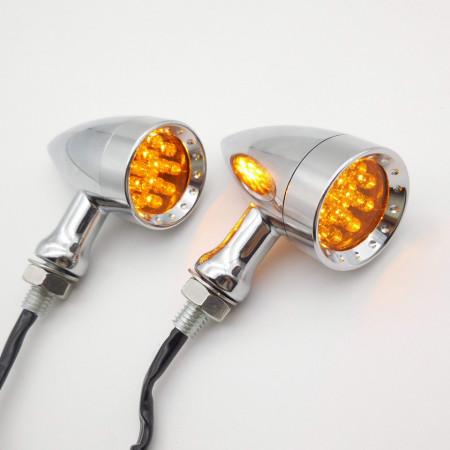 Semnalizatoare moto LED tip BM3030A, culoare crom