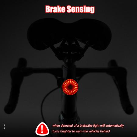 Lampa stop bicicleta Smart Brake cu senzor de frana si 20 LED-uri, reincarcabil USB