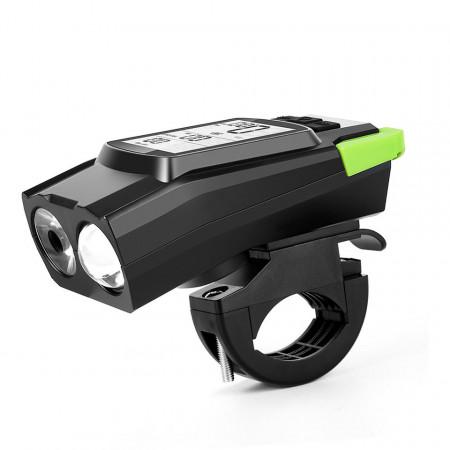 3 in 1 computer bicicleta wireless cu far LED si claxon incorporate
