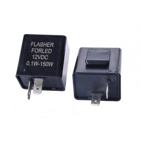 Releu de semnalizare moto LED 2 pini, 12V, 150W