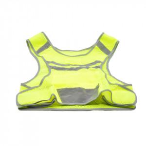 Vesta ciclism reflectorizanta cu avertizare luminoasa cu LED