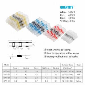 Conectori electrici termo-autosudabili si termocontractibili, set 120 bucati