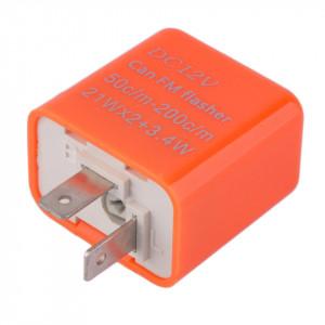 Releu de semnalizare compatibil LED si becuri, cu 2 pini, reglabil,12V, 2 x 21W