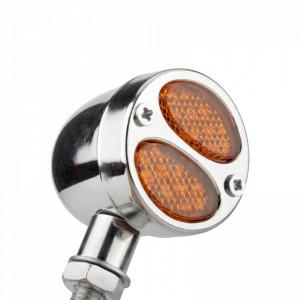 Semnalizatoare moto cu LED, tip RETRO TL0266, culoare crom