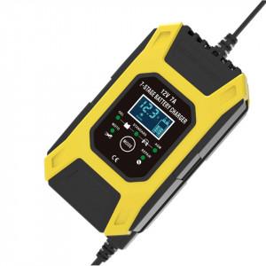 12V 7A Redresor FOXSUR smart pentru baterii auto/moto, ecran digital, functie Repair