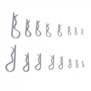 Siguranta splint tip R, set 180 bucati, 8 dimensiuni