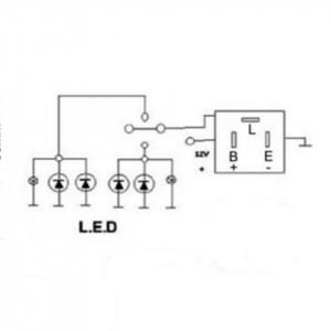 Releu de semnalizare LED 3 pini, 12V, 240 W