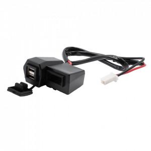 Alimentator 5V pt. moto-scuter-ATV cu 2 prize USB si voltmetru