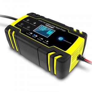 Redresor FOXSUR smart baterii auto/moto/camion cu afisaj digital 12V,8A/24V,4A