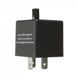 Releu de semnalizare compatibil LED si becuri, 3 pini, reglabil, 12V, 0.1W-150W