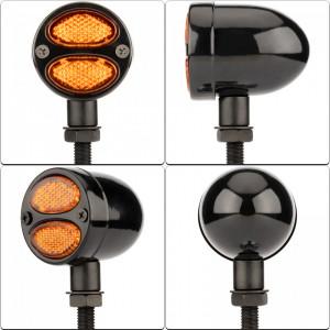 Semnalizatoare moto cu LED, tip RETRO TL0266, culoare neagra