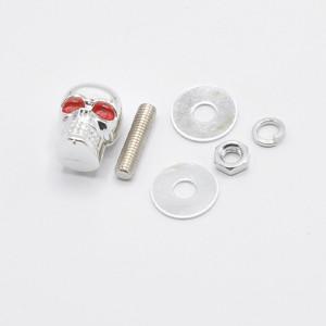Suruburi moto ornamentale cap de mort, set 2 bucati, 2 culori disponibile