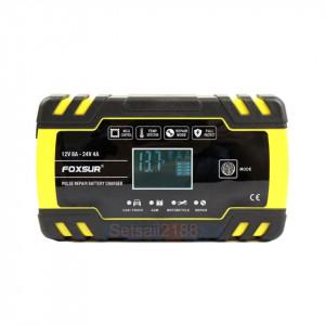Redresor 12V,8A/24V,4A FOXSUR baterii auto/moto/camion cu afisaj digital