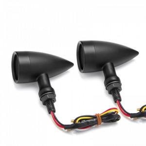 Semnalizatoare moto LED tip BM3030A, culoare neagra