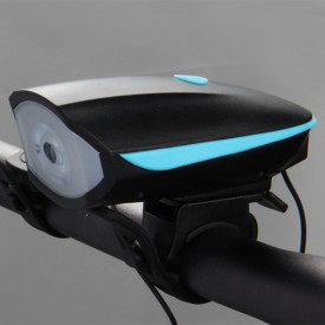 2 in 1 far bicicleta cu claxon incorporat, reincarcabil USB