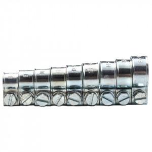 Colier cu surub si piulita, din otel zincat, set 135 bucati