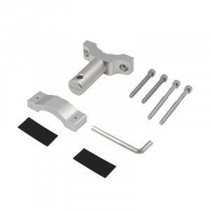 Consola extensie pentru prindere proiectoare moto, GoPro, claxoane, culoare argintie