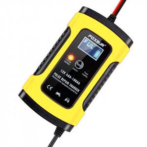 Redresor smart pentru baterii auto/moto FOXSUR, 12V 5A, cu afisaj electronic si functie Repair