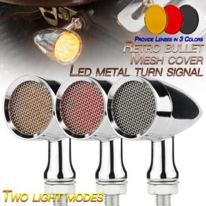 Semnalizatoare moto LED tip BM3030, culoare crom