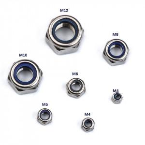 Set 170 bucati piulite hexagonale cu autoblocare M4-M12