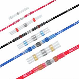 Conectori electrici termo-autosudabili si termocontractibili, set 200 bucati