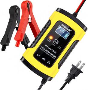 Redresor 12V 5A FOXSUR baterii auto/moto, cu afisaj electronic si functie Repair