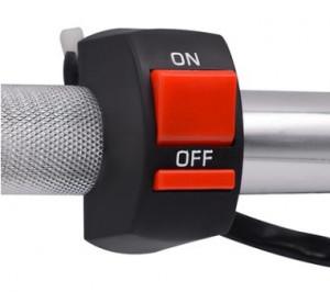 Intrerupator cu buton on-off moto tip Kill Switch