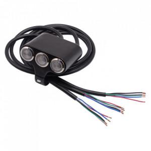 Intrerupator moto cu 3 butoane ( 2 on/off si 1 push)