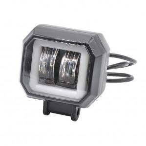 Proiector auto/moto LED 20W tip HG 816, cu Angel Eye alb