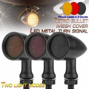 Semnalizatoare moto LED tip BM3030, culoare neagra