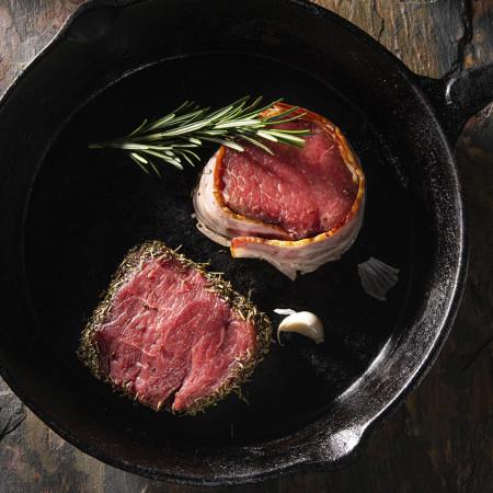 Mix medalion de mânzat cu bacon și ierburi de Provence