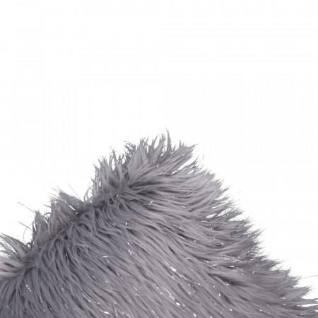 FOXA TYP 2 - Párna, szürke/ezüst, 45x45