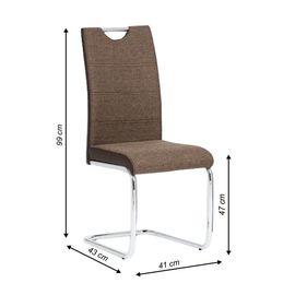 Izma szék - barna + barna