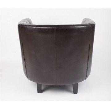 MARON fotel sötétbarna textilbőrrel