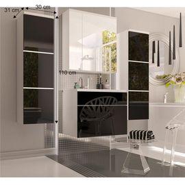 MASON BL 11 magas szekrény magas fényű fehér - fekete színben