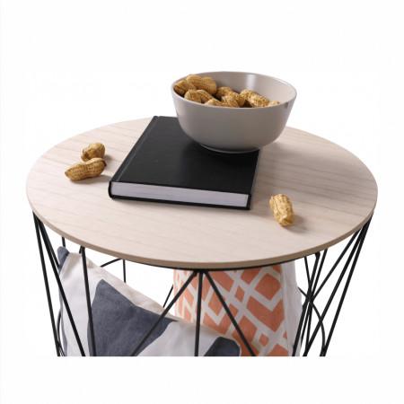 NANCER - Kisasztal, természetes/fekete