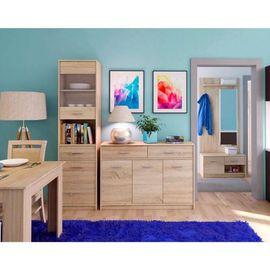 TEYO akasztós szekrény polcokkal sonoma tölgy színben