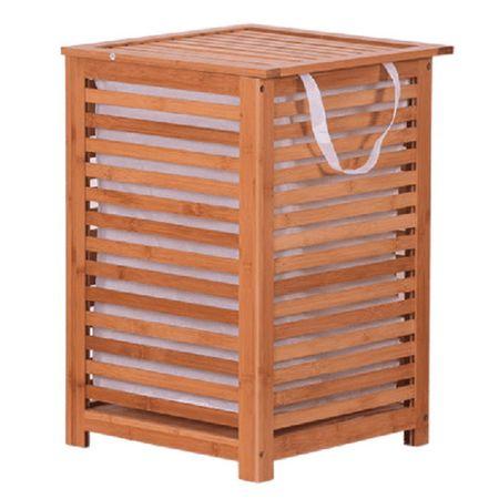 BASKET - Szennyestartó kosár, festett bambusz/bézs