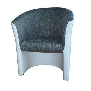 CUBA fotel szürke - fehér színben
