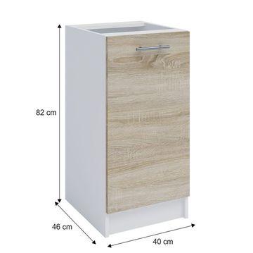 FABIANA S-40 alsó szekrény sonnoma tölgy - fehér színben