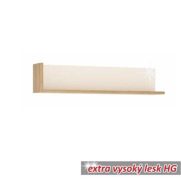 LEONARDO 120 polc riviéra tölgy - fehér extra magasfényű HG színben