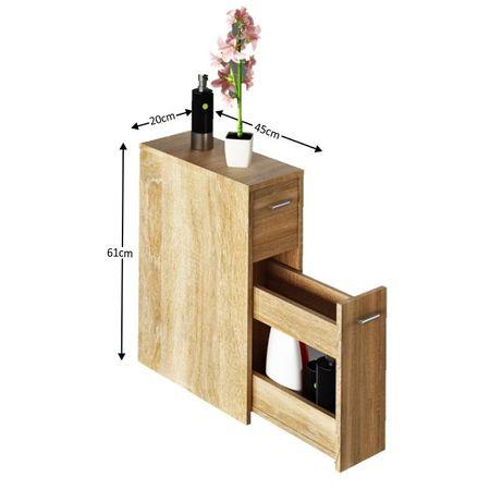 NATALI TYP 7 - Fürdőszoba szekrény, tölgy sonoma