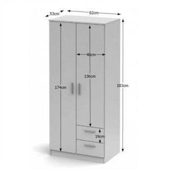NOKO-SINGA 81 2 ajtós szekrény fiókokkal sonoma tölgy színben