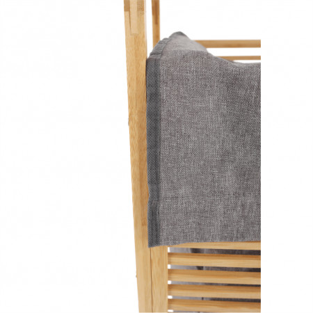 POKO - Szennyeskosár, natúr bambusz/szürke