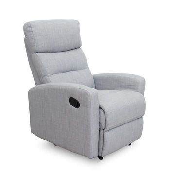 SILAS pihenő fotel világosszürke színben